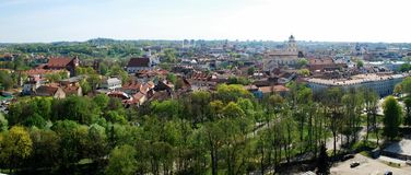 Vilnius city view from Gediminas castle. Royalty Free Stock Image