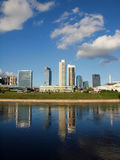 The Vilnius city view with skyscrapers Stock Images