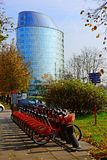Vilnius city Zverynas district and cycles system Royalty Free Stock Photo