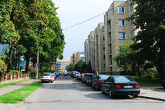 Vilnius city Zverynas district houses Stock Photography