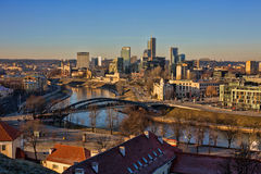 Vilnius cityscape from Gediminas Castle Stock Photos