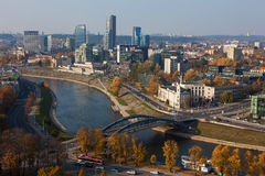 Vilnius cityscape from Gediminas Castle Royalty Free Stock Image