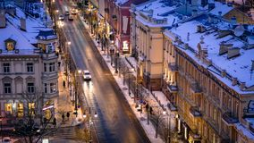 Vilnius Cityscape Skyline Lithuania Eastern Europe Royalty Free Stock Images