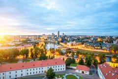 Vilnius cityscape view Royalty Free Stock Photos