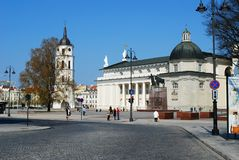 Vilnius cthedral place in Vilnius city on April 19 Royalty Free Stock Photo