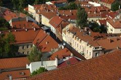 Vilnius dachy w górę, Lithuania, Czerwiec 2016 obraz royalty free