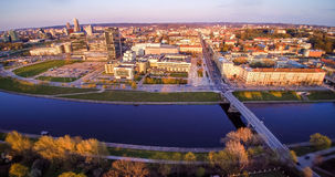 Vilnius de arriba Imagen de archivo libre de regalías