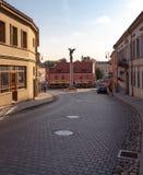 vilnius De straten van de stad Stock Foto's