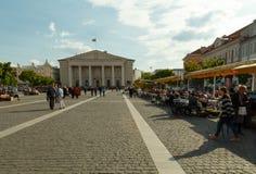 vilnius De straten van de stad Stock Afbeelding