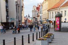 vilnius De straten van de stad Stock Foto