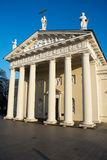 Vilnius domkyrka och tegelplatta av miraklet Royaltyfria Bilder