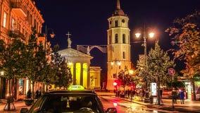 Vilnius domkyrka, timelapse arkivfilmer