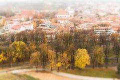 Vilnius drie schuine standverschuiving royalty-vrije stock afbeelding