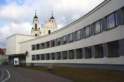 Vilnius em fevereiro fotografia de stock royalty free