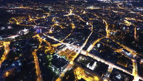 Vilnius en la noche Fotos de archivo