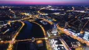 Vilnius en la noche Fotos de archivo libres de regalías