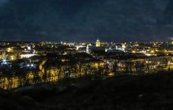 Vilnius en la noche Imagen de archivo