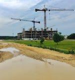 Vilnius expanding, new building constructions Stock Images