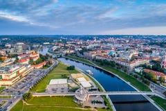 Vilnius flygbild Arkivbilder