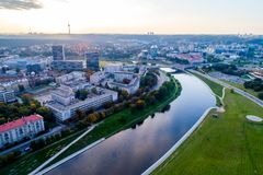 Vilnius flygbild Royaltyfri Fotografi