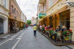 Vilnius gammal stad, Pilies gata Royaltyfria Foton