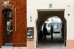 Vilnius gammal stad, Pilies gata, 32 Royaltyfri Fotografi