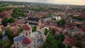 Vilnius gammal stadvideo stock video