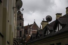 Vilnius gata Arkivbilder