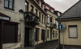 Vilnius gata Arkivbild