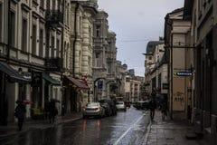 Vilnius gata Royaltyfri Fotografi