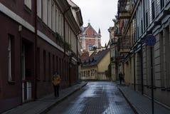 Vilnius gata Arkivfoto