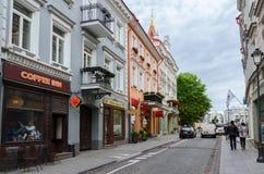 Vilnius gata Didzioji Royaltyfri Fotografi