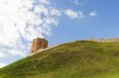 Vilnius Gediminas tower castle hill, Lithuania Royalty Free Stock Image