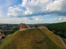 Vilnius Gediminas wierza Jeden najwięcej Zwiedzającego przedmiota w Lithuania i populat Zdjęcia Royalty Free