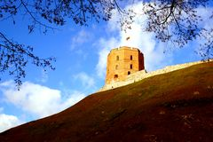 Vilnius, Gedimino castle. Vilnius, Lithuania travel enjoying nice city landscapes and architecture details stock image