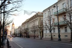 Vilnius, Gedimino pr. In Soft View and Mood stock photography