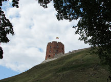Vilnius. Gideon tower on castle hill Royalty Free Stock Images