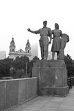 Vilnius. The Green bridge. Stock Photo