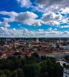 Vilnius höstpanorama Royaltyfri Fotografi