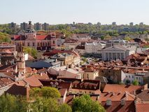 Vilnius hall place - center of old capital city Royalty Free Stock Photo
