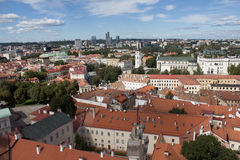 Vilnius. The heart of the Capital of Lithuania is the beautiful Vilnius Old Town included into UNESCO World heritage list. It is the oldest part of Vilnius on Stock Image