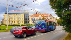 Vilnius hotelu i głównej ulicy kongres zdjęcie stock
