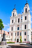 vilnius Iglesia de St Catherine lituania Foto de archivo libre de regalías