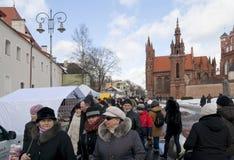 VILNIUS- IL 5 MARZO 2011 Fotografia Stock Libera da Diritti