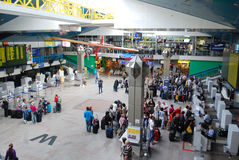 Vilnius International airport. Interior of Vilnius International airport, ICAO code EYVI, based in Lithuania one of baltic states Stock Photos