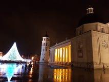 Vilnius julgran Arkivbild
