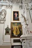 Vilnius - Kerk van Sts Peter en Paul stock afbeeldingen