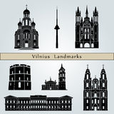 Vilnius landmarks and monuments Stock Image
