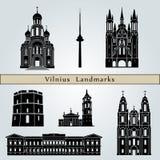 Vilnius landmarks and monuments Stock Image