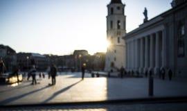Vilnius landskapsuddighet Fotografering för Bildbyråer